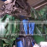 HDPE plastic scrap from waste container
