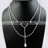 Wholesale Rates !! 3 MM Pink Amethyst beads Necklace, 925 Sterling Silver Jewelry, Silver Jewelry