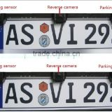 European license plate frame parking sensor,European license plate rearview camera for you option