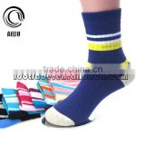 Soft Cute Warm Dark Blue Children Sport Cotton Sock Bulk Wholesale Elite Socks Cartoon Tube Sock