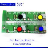wholesale goods from china compatible Toner reset chip for MInolta C452 552 652 copier spare parts