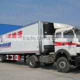 30ton refrigerated box semi trailer, tri-axles refrigerated box semi trailer