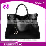2016 italian gunuine leather lady handbag support OEM custom bag from guangzhou handbag factory