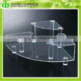 DDN-0050 ISO9001 Chinese Manufacture Sells SGS Non-toxic Test Luxury Crystal Clear Acrylic Beauty Products Display Shelf