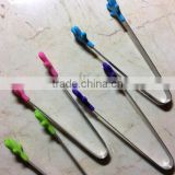 Best Ever Premium Mini Tongs (Set of 4). Perfectly designed high quality Silicone 5 inch Tongs! Best Kitchen gadgets