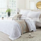 2014 new design, 6pcs feather flower Jacquared bedding set ,hotel linen
