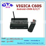 Google Android 4.2 smart TV BOX Amlogic8726-MX Android+ DVB-S2 VIGICA C60S internet set top box
