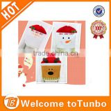Wholesale new design santa claus snowman reindeer christmas kitchen chair back covers