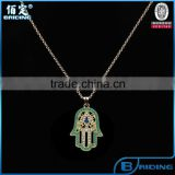 2015 most popular gold hamsa fatima hand alloy chain necklace vintage jewelry