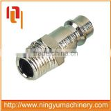 Auto-locking industrial milton type one touch stainless steel quick coupler for air hose