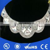 2014 New design beaded neckline necklace rhinestone transfers