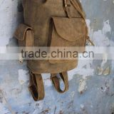 Distressed Leather Hand Made Ruck Sack Bag's/Biker's Back Pack in real leather