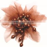 Fantasy colorful tulle flowers with beads