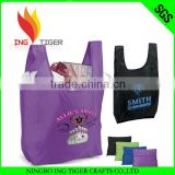 2016 Hot Sales For Promotion Reusable Shopping Bag liquid packaging plastic t-shirt bag in roll