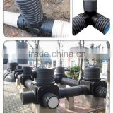 Supply 110mm 200mm different diameter inspection manhole HDPE corrugated pipe fitting