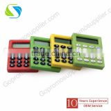 promotion advertising logo print custom made plastic cheap calculator