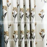 2015 new design jacquard flax fabric for window curtain, flame retardant jacquard blackout fabric wholesale hangzhou factory