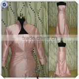 PP2566 Plus Size Custom Design Taffeta Mother Of The Bride Dresses With Long Sleeve Jacket