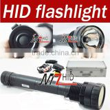 35W/45W/65W Ultra Bright 6600 Lumens Rechargeable HID Flashlight Lamp Xenon Torch Waterproof Black