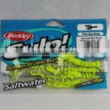 100% natural Berkley Gulp saltwater Chartreuse belly shrimp fishing lure