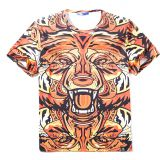 Colorful 3D Cartoon Printed Short Sleeve T-Shirt Fashion Tees