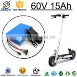 Highly Recommend Big Capacity electric bike 60 volt lithium battery for golf cart 60v 1500mah