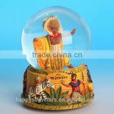 chinese factory custom made handmade resin glass ball of souvenirs ,movies snow globe