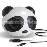 Hot selling cheap price panda shape portable mini speaker for laptop, mobile and tablet