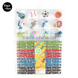 China supplier high quality 12 pk Novelty Eraser Toppers with HB Pencils