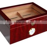 Cigar Humidor Cedar Wood Hold 100 Cigars High Gross Finish Bubinga