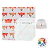 Soft Touch Cartoon Fox Print Baby Blanket New Style Swaddle Blankets