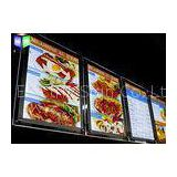 Advertisement Crystal LED Menu Light Box , Backlit Menu Board Light Box 24 x 36