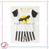 Facotry wholesale bat cartoon tops ans shorts fashion trendy cool boys wholesale stylish baby clothes