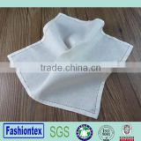 hotel dinner white napkin cotton linen with hemstitch border