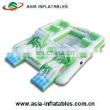 Floating Water Lounge Raft inflatable swimming looating island inflatable water floating bar with tent