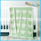 Wholesale 100% bamboo cotton blanket muslin swaddle blanket knitted blanket at home