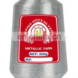 Quality silver lurex yarn