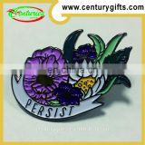 Colourful flowers metal badges, Various Designs/Sizes Available, OEM