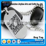 custom colorful stainless steel dog tag adilia with bar code