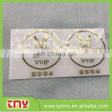 Best price metal sticker customized logo metal sticker gold metal sticker