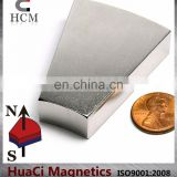 "N42 Wedge Neodymium Magnet OD8""XID4""X0.5"" 22.5 Degree"