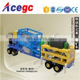 Convenient,moving fast,esay operate hig capacity gold trommel screen separating car with wheels
