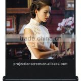 "100"" 4:3 Portable pull floor up projection screen"