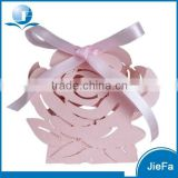 2015 New Design And Pink Color of Wedding Favor Box