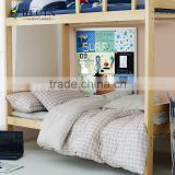2015 new design fashion student dormitory cotton bedding