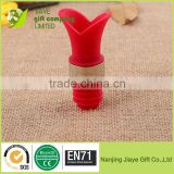 Beautiful Lily silicone rubber Wine Bottle Stopper,Wine Cork