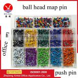 Wholesale 20mm stationery ball head push pins for office use with high quality