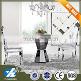Rotate round marble top dining table