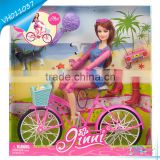 New Fashion Barbie Doll Wholesale in Bicycle