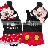 2015 fashion kids swimsuit lovely Mickey and Minnie designs for girls and boys. kids swimwear,chidlren swimsuit
